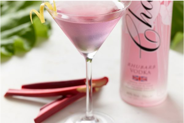 Verzon House Cocktail of The month Chase Rhubarb Martini
