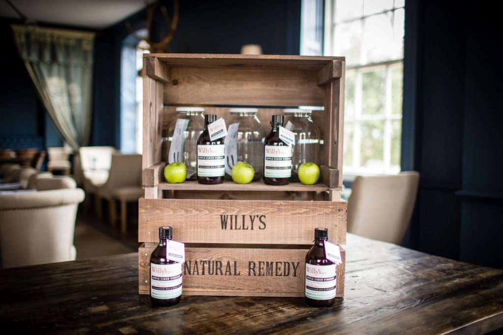 Willys Apple Cider vinegar at Verzon House Herefordshire